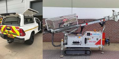 New equipment: Toyota Hilux and Comacchio GEO205 drilling rig